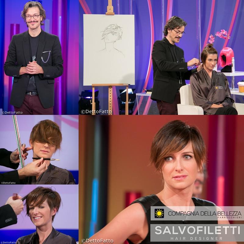 """CDB on TV at """"Detto Fatto"""" with Salvo Filetti beauty coach."""